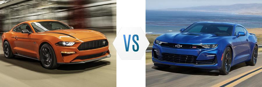 2021 Ford Mustang vs Chevy Camaro