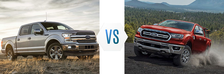2019 Ford F-150 vs Ford Ranger