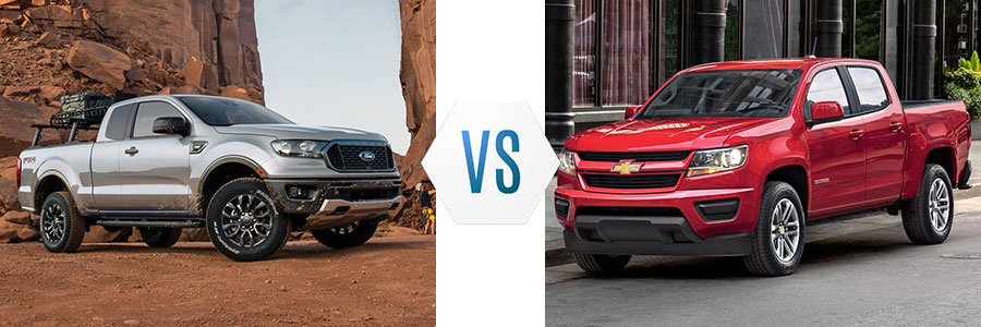 2020 Ford Ranger vs Chevrolet Colorado