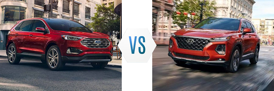 2019 Ford Edge vs Hyundai Santa Fe