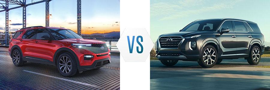 2020 Ford Explorer vs Hyundai Palisade