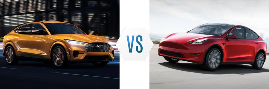 2021 Ford Mustang Mach E vs Tesla Model Y